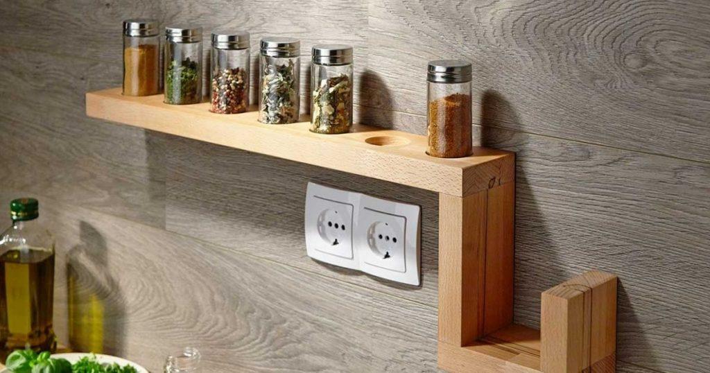 especiero de cocina madera